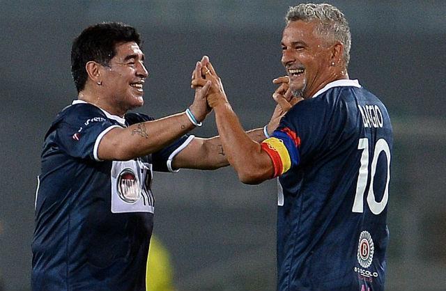Diego és Baggio öröme